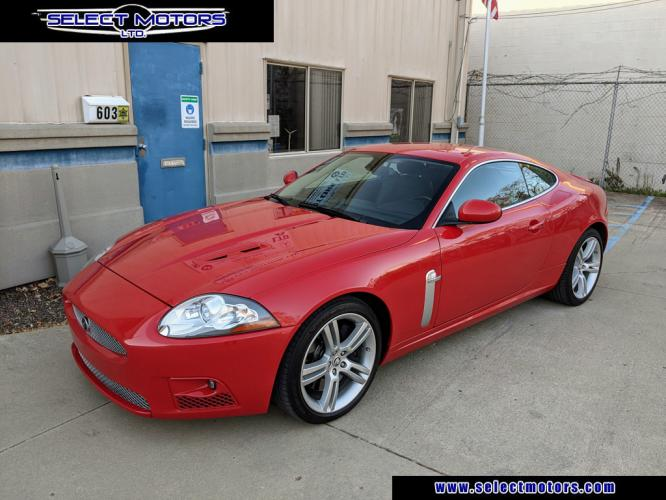 2008 /Black Leather Jaguar XK-Series XKR Coupe (SAJWA43C089) with an 4.2L V8 DOHC 32V SUPERCHARGED engine, 6-Speed Automatic Overdrive transmission, located at 603 Amelia Street, Plymouth, MI, 48170, (734) 459-5520, 42.378841, -83.464546 - Photo #0